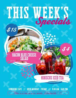 Cafe Specials Flyer