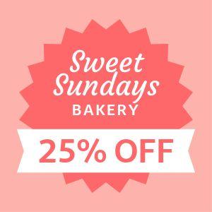 Bakery Discount Label