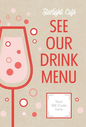 Drinks Scan Table Card