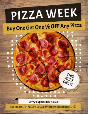 Pizza Week Flyer