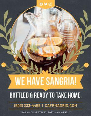 Bottled Sangria Flyer