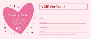 Valentines Love Gift Certificate