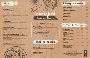 Cafe Placemat Menu