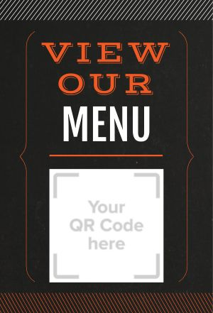 Menu Scan Table Sign