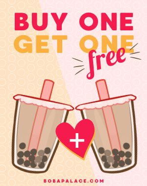 BOGO Bubble Tea Poster