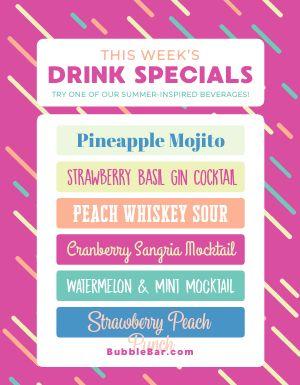 Weekly Drink Specials Flyer