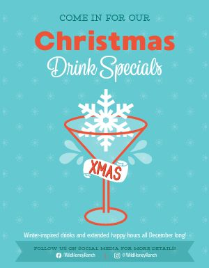 Christmas Cocktails Flyer