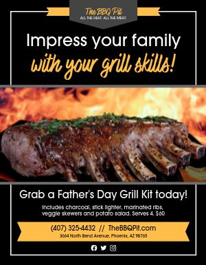 Fathers Day Grill Sign
