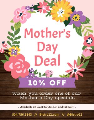 Mothers Day Deal Flyer
