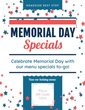 Memorial Day Specials Flyer