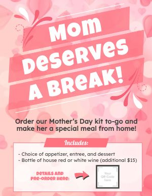 Mothers Day Meal Kit Signage