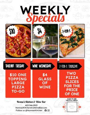 Pizza Specials Signage