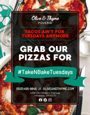 Pizza Tuesdays Flyer