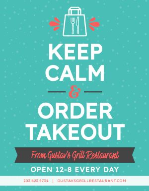 Winter Takeout Hours Signage