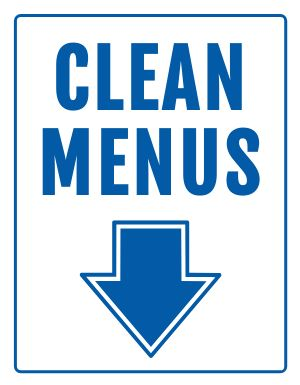 Clean Menus Notice