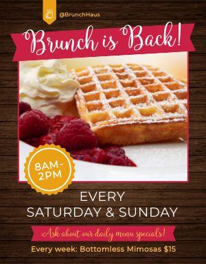 Brunch Restaurant Flyer