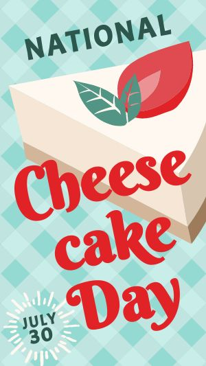 Cheesecake Facebook Story