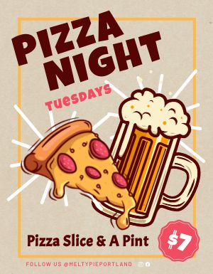 Pizza Night Sign