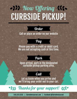 Winter Curbside Pickup Sign