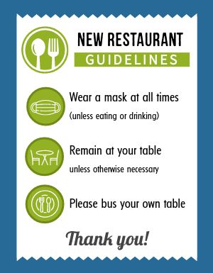 Restaurant Guidelines Announcement