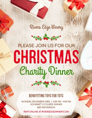 Christmas Charity Dinner Flyer