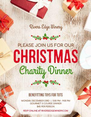 Christmas Charity Dinner Flyer
