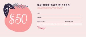 Valentines Gift Certificate
