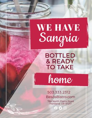 Sangria Beverage Flyer