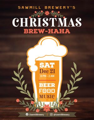 Christmas Beer Flyer