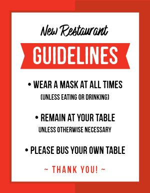 Restaurant Guidelines Sign