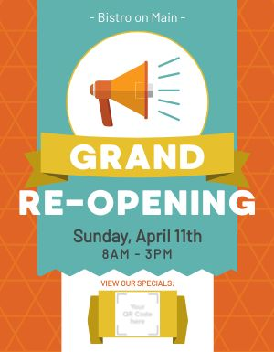 Restaurant Reopening Flyer