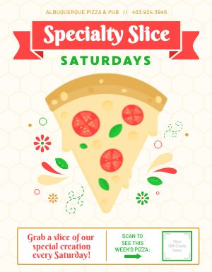 Specialty Pizza Flyer