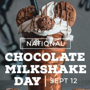 Chocolate Milkshake Instagram Update