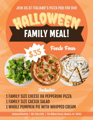 Halloween Meal Kit Flyer