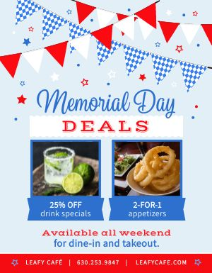 Memorial Day Deals Flyer