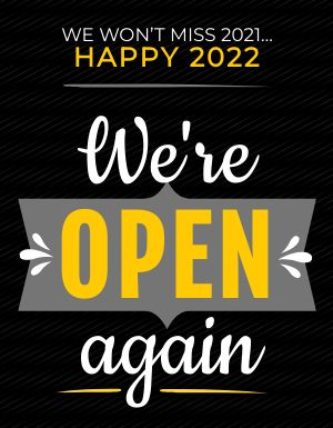 We're Open Again Flyer