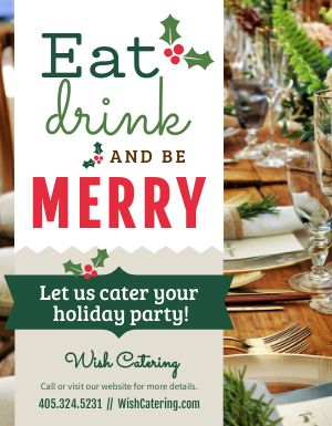 Christmas Catering Sign