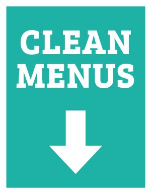 Clean Menus Sign