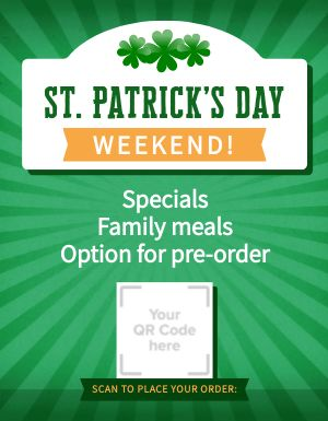 St Patricks Day Signage