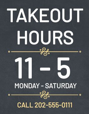 Takeout Schedule Flyer