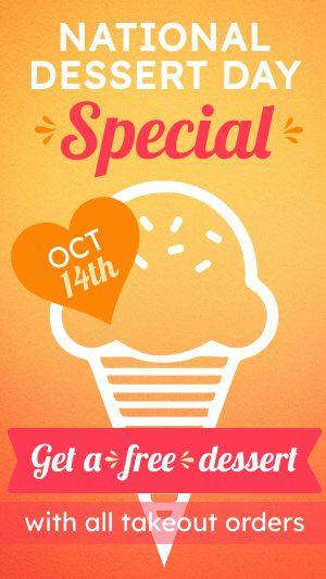 Dessert Special Facebook Story