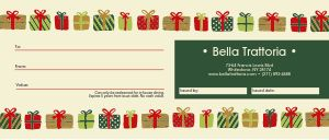 Holiday Presents Gift Certificate