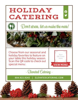 Holiday Catering Sign