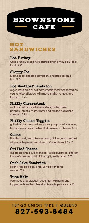 Special Takeout Menu