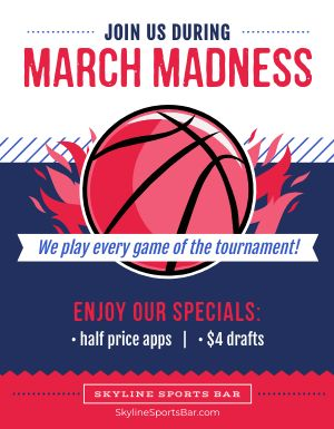 March Madness Specials Flyer