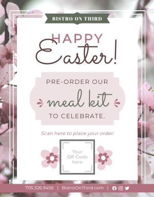 Easter Meal Kit Signage