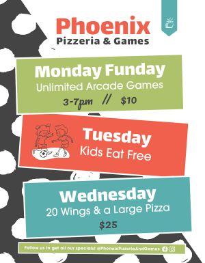 Pizzeria Specials Flyer