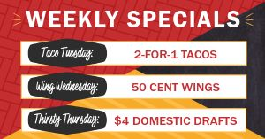 Weekly Specials Facebook Post
