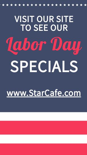 Labor Day Specials Instagram Story