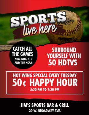 Bar Sports Flyer